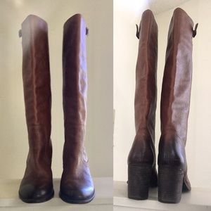 Vince Cumuto Burnished Leather Boots
